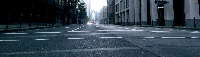 Straße Frankfurt Skyline